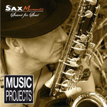 Abb. Portrait von Heiko Frehse mit Saxophon in der Natur
