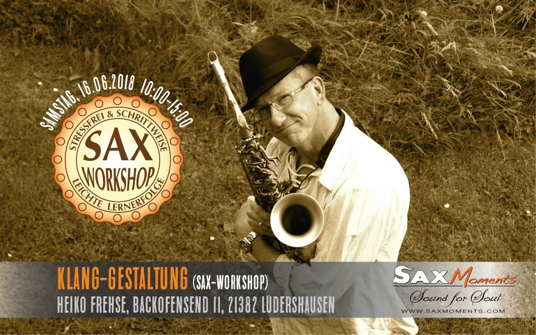 Heiko Frehse, Saxophonist & Freier Redner rund um Hamburg, Bremen und Hannover.